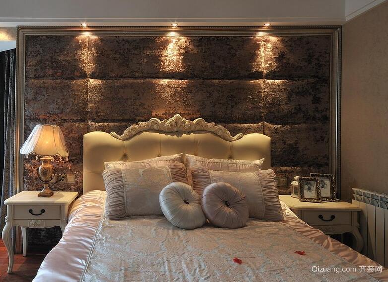 小户型欧式风格卧室软包背景墙装修效果图