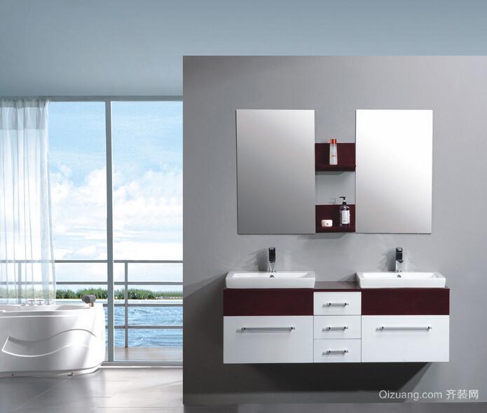 欧式风格大户型浴室背景墙装修效果图