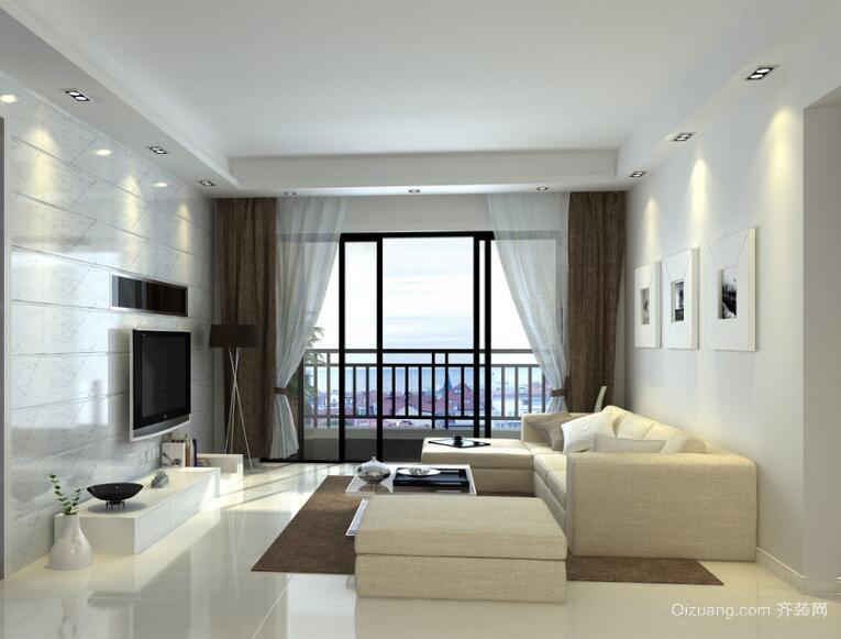 现代欧式大户型客厅背景墙装修效果图