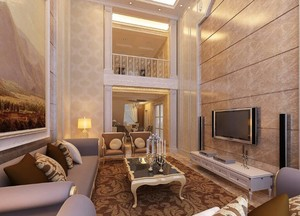 欧式精致的复式楼室内装修效果图鉴赏