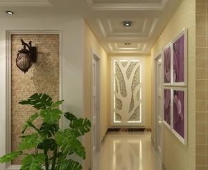 欧式风格大户型走廊吊顶装修效果图实例