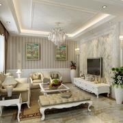 2016大户型唯美的简欧风格客厅装修效果图