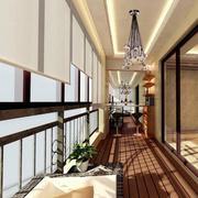 现代经典的别墅型阳台装修效果图鉴赏