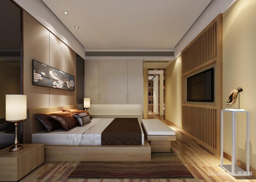 89平米大户型欧式卧室设计装修效果图鉴赏