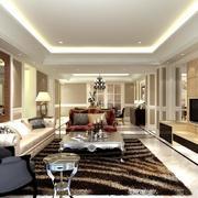 别墅现代欧式雍容华贵的客厅装修效果图