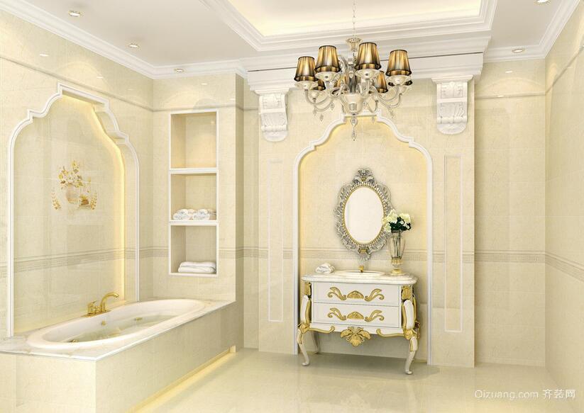 经典的欧式大户型卫生间装修效果图实例欣赏