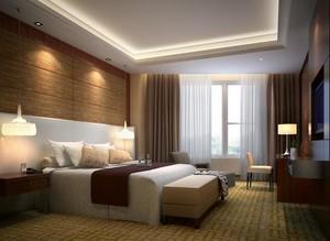 100平米现代简约卧室背景墙装修效果图鉴赏