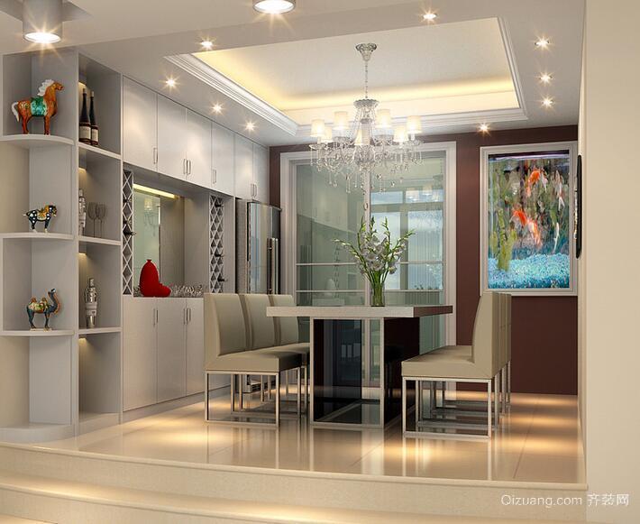 小户型欧式风格餐厅背景墙装修效果图