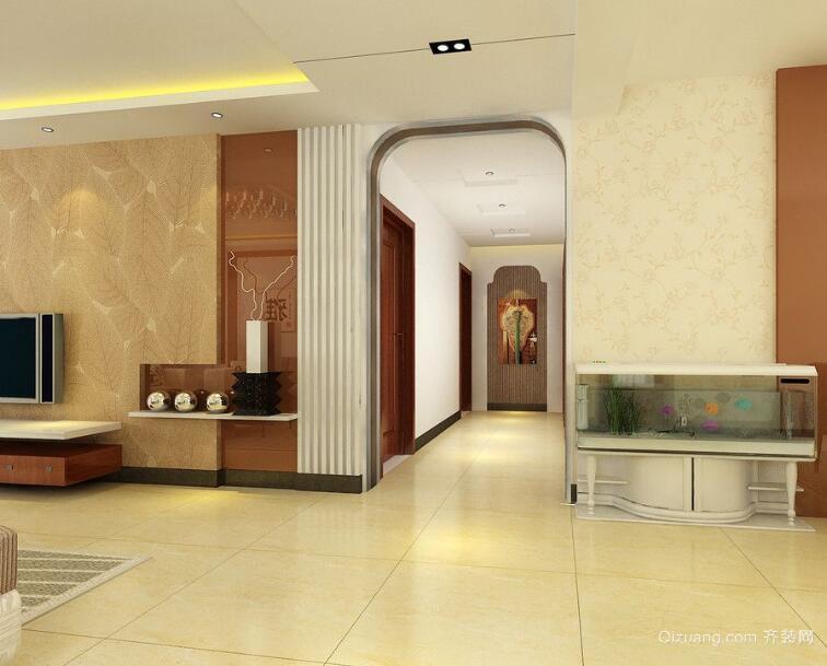 经典大方的欧式大户型室内玄关装修效果图