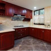 现代美式装修风格样板房厨房装修效果图