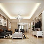 经典大方的大户型欧式客厅装修效果图欣赏
