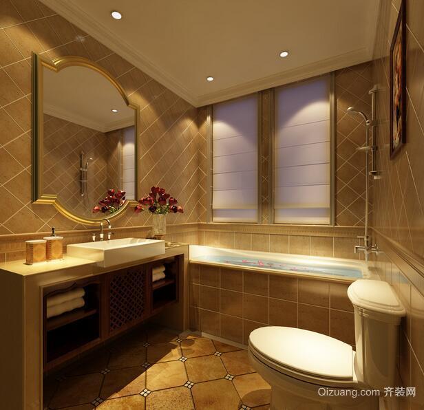 欧式唯美的别墅型卫生间吊顶装修效果图