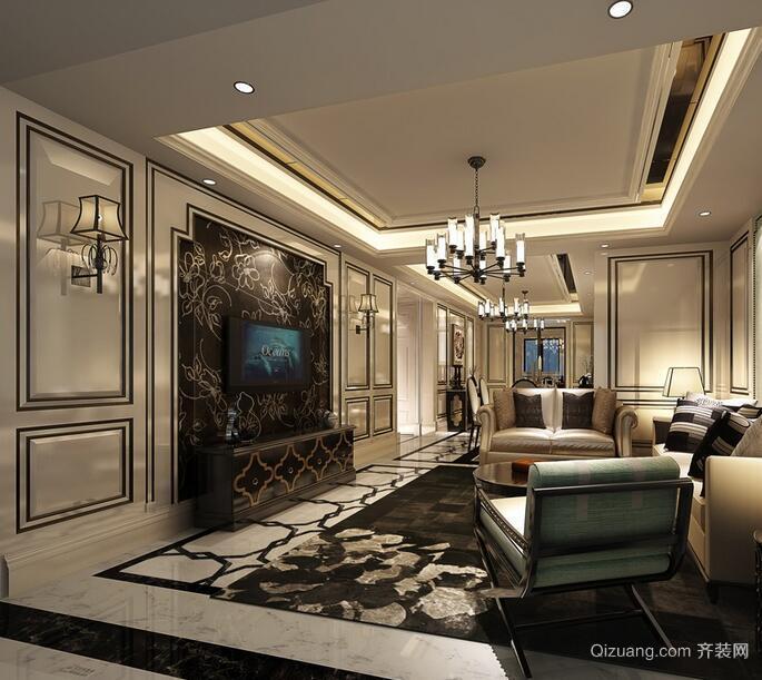 欧式风格经典的别墅室内装修效果图鉴赏