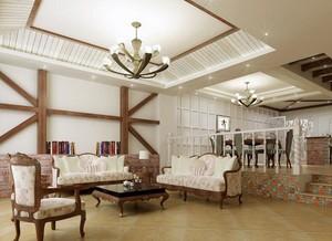 欧式精致的时尚复式楼室内装修效果图