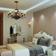 精致的别墅型简欧风格卧室装修效果图