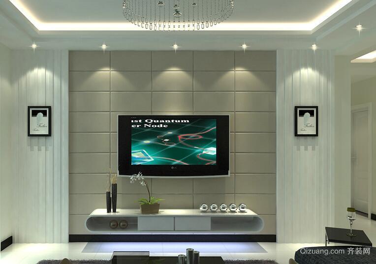 现代欧式大户型电视背景墙装修效果图欣赏