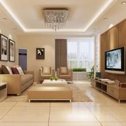 温馨唯美的大户型欧式客厅装修效果图欣赏