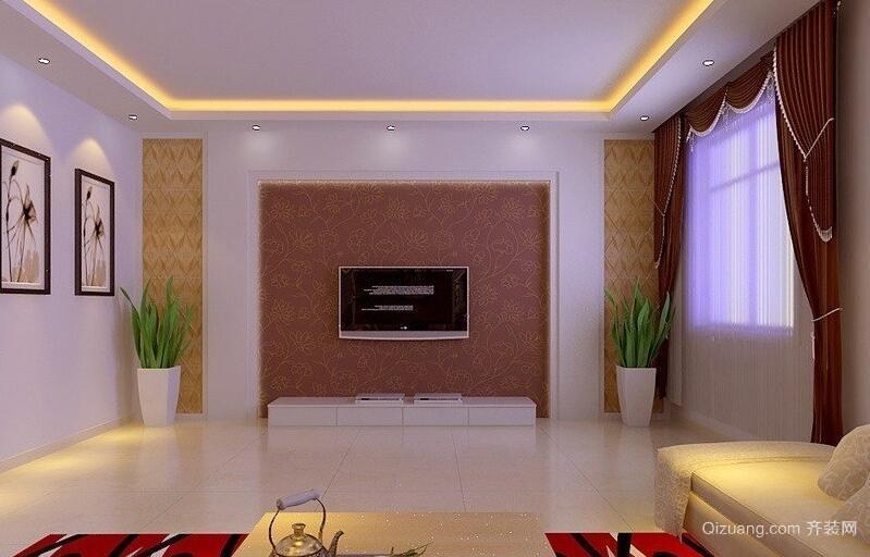 精致的欧式大户型客厅背景墙装修效果图鉴赏