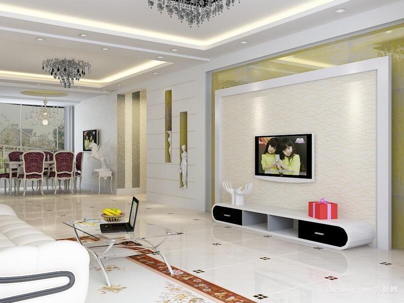 90平米大户型精致的欧式客厅装修效果图