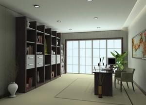 现代都市轻快的大户型书房装修效果图