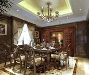 大户型美式装修风格样板房餐厅装修效果图欣赏