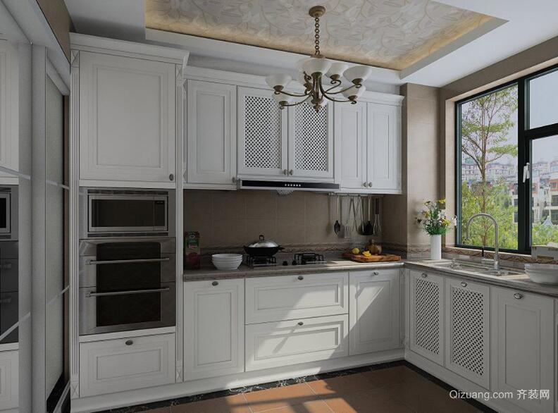 2016唯美欧式风格厨房橱柜装修效果图鉴赏