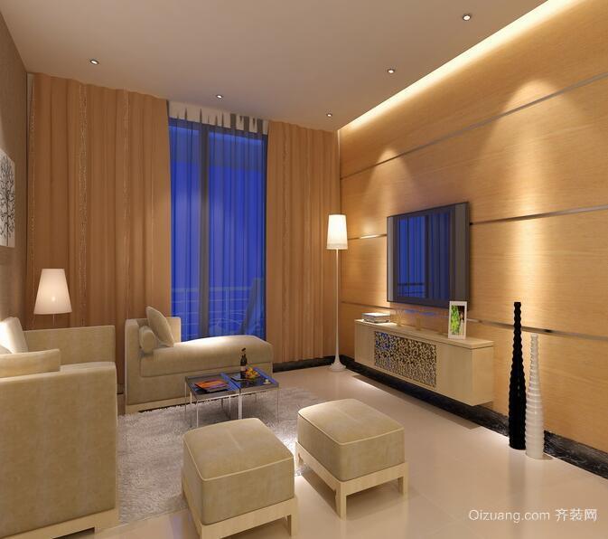 欧式大户型客厅电视背景墙装修效果图鉴赏