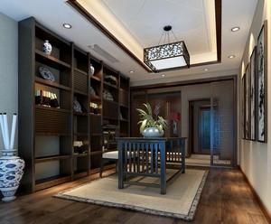 别墅型现代精致的书房吊顶装修效果图鉴赏