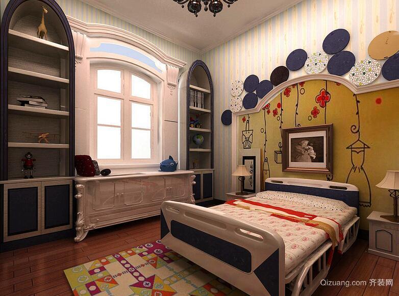 大户型欧式儿童房背景墙装修效果图鉴赏