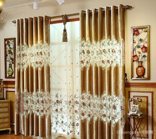 现代欧式精美的别墅型室内窗帘装修效果图