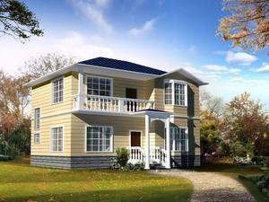 小户型现代欧式农村别墅外观效果图实例