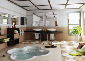 100平米别墅型唯美高贵浴室装修效果图鉴赏