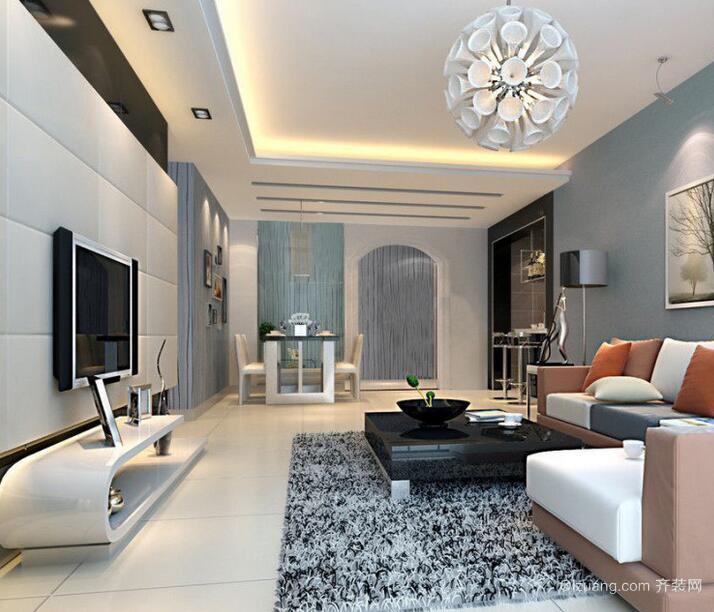 精致的欧式别墅客厅电视背景墙装修效果图