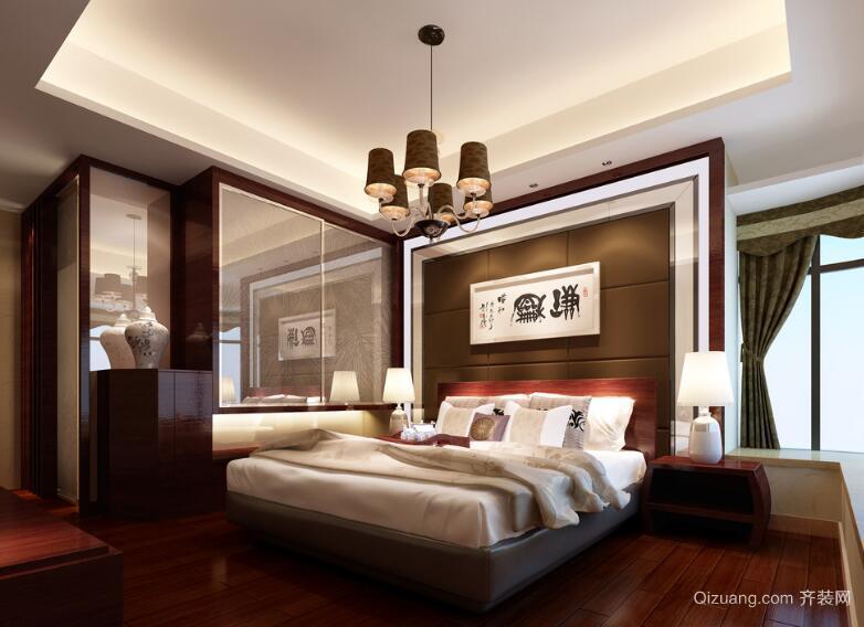 2016大户型中式卧室吊顶装修效果图鉴赏