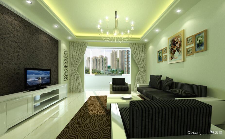 经典的欧式大户型客厅电视背景墙装修效果图