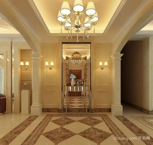 98平米别墅型欧式室内玄关装修效果图