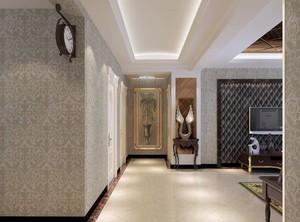 现代欧式经典的大户型走廊吊顶装修效果图实例