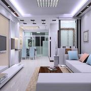 2016小户型现代简约客厅装修效果图实例