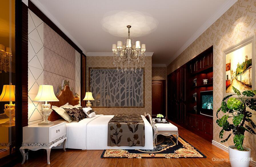 都市大户型简欧风格卧室装修效果图实例