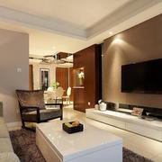 欧式风格大户型客厅背景墙装修效果图鉴赏