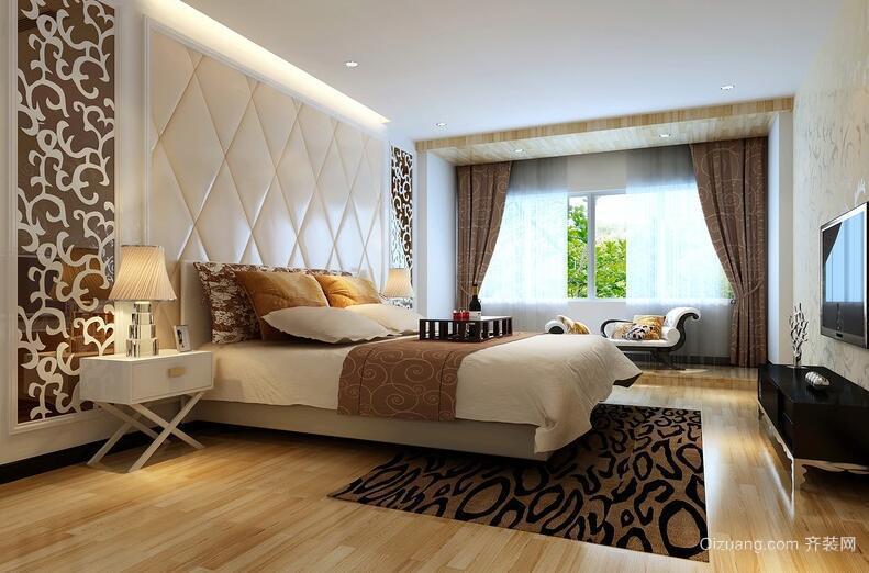 90平米大户型欧式风格卧室背景墙装修效果图