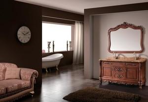欧式风格经典的浴室背景墙装修效果图