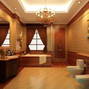 唯美的浴室效果图