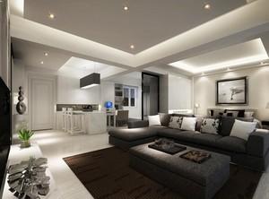 2016别墅型欧式家庭客厅背景墙装修效果图