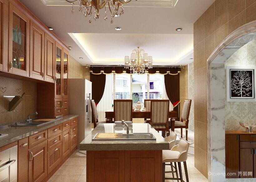 自建别墅都市简欧风格厨房装修效果图