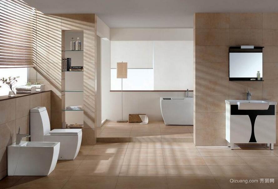 轻快的别墅欧式经典卫生间装修效果图鉴赏