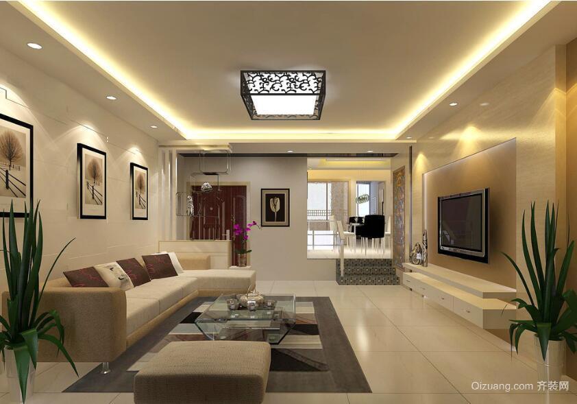 小户型经典的中式客厅装修效果图实例