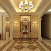 精美的别墅型欧式玄关装修效果图实例