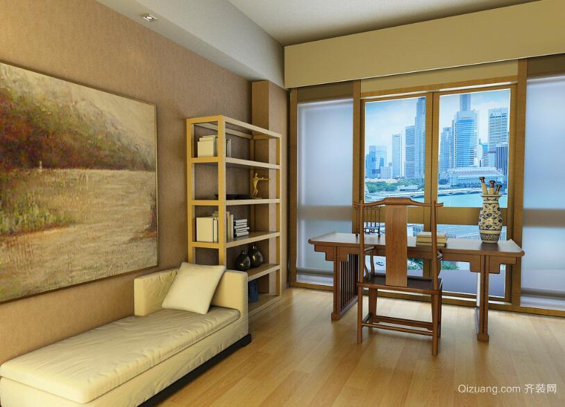 现代精致的舒适大户型书房装修效果图鉴赏