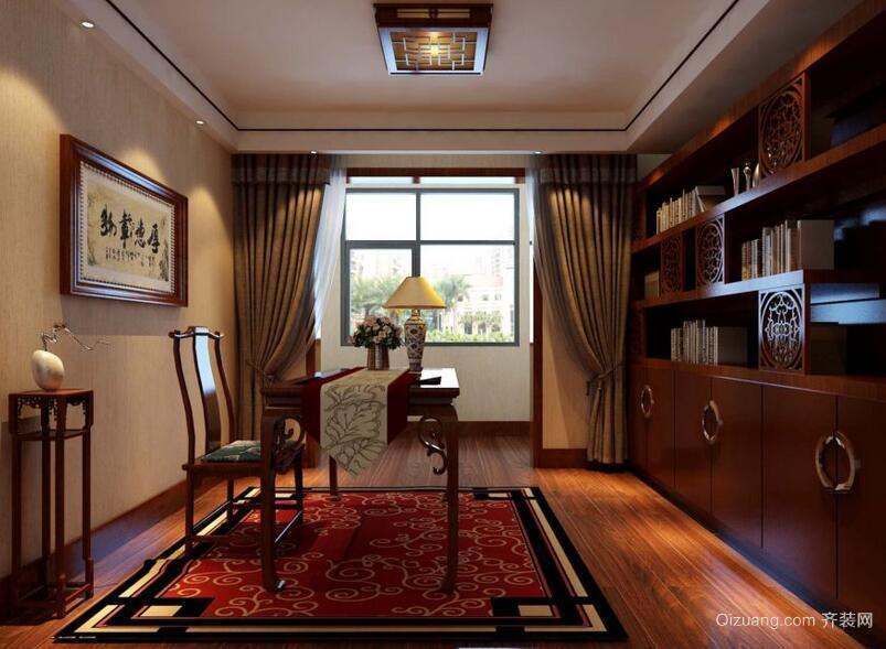 现代大户型中式书房吊顶装修效果图鉴赏